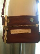 Marc by Marc Jacobs Pebbled Leather Mini Crossbody Colorblock - Brown, Red, Whit