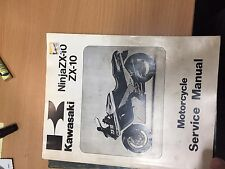 OEM KAWASAKI  SERVICE REPAIR MANUAL NINA ZX10 1988-1990 99924-109802