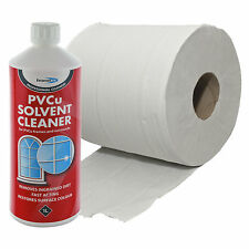 PVC INDUSTRIAL CLEANING BUNDLE SOLVENT CLEANER & TISSUE ROLL REMOVE STUBORN MARK