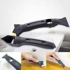 2Pcs Silicone Sealant Remover Filler Smoother & Finisher Cleaner Tool Kit Black