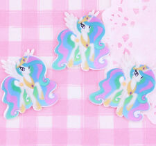 5 x Cute Pastel Pony Flat Back Cabochons Decoden Kawaii Phone Deco Crafts