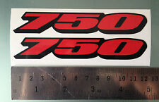 """GSXR """"750"""" Fairing Decals / Stickers (NEW DESIGN) (Any Colour)"""