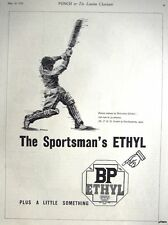 1939 BP 'Sportsman's Ethyl' Petrol ADVERT Cricket P Fender - Vintage Print AD