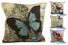 """Tapestry Linen Butterfly Cushion Cover, Scatter Cushions, 18""""x18"""""""