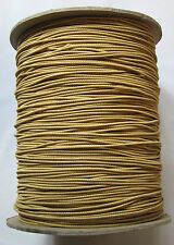 5mtrs ~ Round Gold & Fawn Shock Elastic 2mm Wide