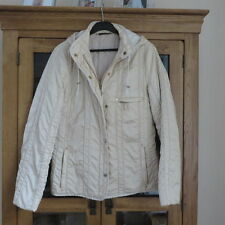Delmod Quilted Jacket with Hood Cream 36 bust excellent