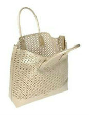 NWOT FURLA Gold Perforated Leather Melissa Tote Bag $378  Made in Italy