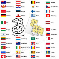 4G UK Sim Card perfect for Travel To Europe USA and more Nano Micro 3 in 1 size