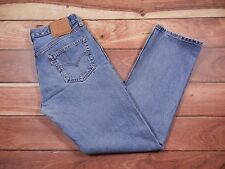 Mens Levi's 501 Jeans Size 34x32 Regular Fit Straight Leg Blue Denim Button Fly