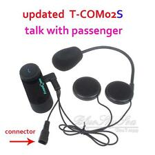 T-COM02S Bluetooth Motorcycle Helmet-Mount Headset GPS Music Call Headphone