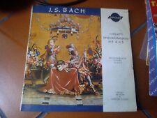 """LP 10"""" 25 CM CONCERTI BRANDEBURGHESI J.S. BACH FEESTIVAL ORCHESTRA WERNER GUNDT"""