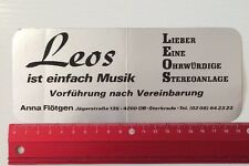 Aufkleber/Sticker: Leos Musik - Lieber Eine Ohrwürdige Stereoanlage (190516130)