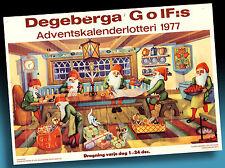 SCHÖNER ALTER ADVENTSKALENDER 1987   WICHTEL WEIHNACHTSVERSAND   GOLF LOTTERIE 3