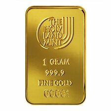 Special Passover SALE 1 gr Pure Gold Bar 999.9 Israel Certificate Holy Land Mint