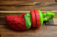 Sassy Terry Teether with Handle Strawberry