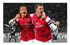 MEZUT OZIL & AARON RAMSEY - ARSENAL AUTOGRAPHED SIGNED A4 PP POSTER PHOTO
