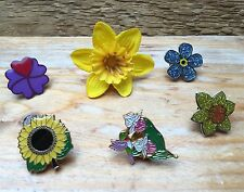 Job Lot Of Pin Brooches/Flower  Designs/Collectable/Kitsch/Vintage Jewellery