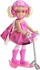 Barbie in Princess Power super hero Gabby doll with scooter pink CDY69