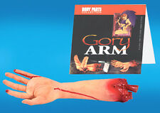 FAKE GORY BLOODY ARM / HAND scary freaky hanging joke halloween props gag prank