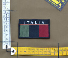 "Ricamata / Embroidered Patch ""ITALIA Flag"" Subdued with VELCRO® brand hook"