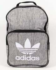 Adidas Originals Classic Backpack in Grey Marl - laptop pocket trefoil