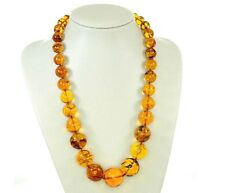 Rare German Museum Verified Genuine Amber Beads with Insects- A0373 RRP£8500!!!