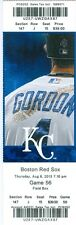 2013 Royals vs Red Sox Ticket: Justin Maxwell & Billy Butler HRs/Bruce Chen Win