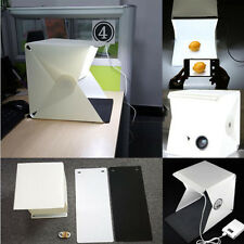 Light Room Photo Studio 9'' Photography Lighting Tent Kit Backdrop Cube Mini Box