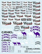 "NEW DECALS "" WEST / CAMEL "" TOUTES ECHELLES 19cm X 15cm - COLORADO DCD019"