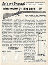 1979 WINCHESTER 94 Big Bore RIFLE 1 2/3 pg Evaluation Article