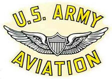 "US Army  ""Aviation""   Vintage Looking   Travel Decal/Sticker"