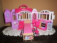Barbie Ferienhaus GLAM Mattel CHF54  Puppenhaus Haus mit Zubehör Möbliert *WOW*