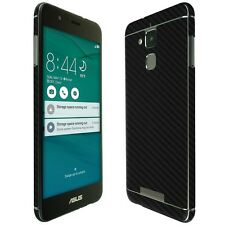 Skinomi Black Carbon Fiber Skin+Clear Screen Protector for Asus ZenFone 3 Max