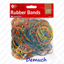 New 250pcs Elastic Bands Coloured Rubber Bands Ideal For Home School Office 140g