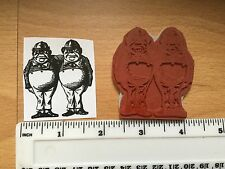 Tweedledum And Tweedledee Alice In Wonderland Stamp On Cling Mount Foam. NEW