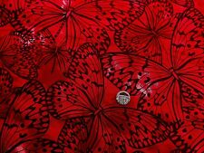 Melody Large Butterflies Red fabric fat quarter 50 x 56 cm  100% Cotton F 5620 A