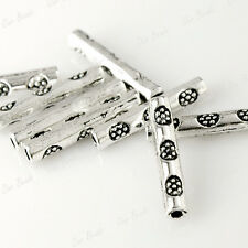 200Pcs Tibetan Silver Tube Bead Spacers Jewelry Findings