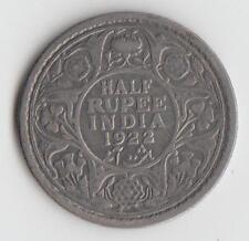 INDIA 1922 HALF RUPEE SILVER - G/F