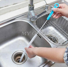 Drain Unblocker Stick Snake Cleaner Hair Remover Brush Tool Sink Kitchen 71cm