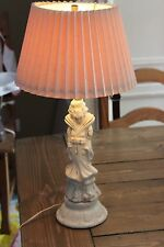 Antique Vintage Geisha Porcelain Table Lamp Works Perfectly