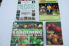 4 x Gardening books Ground Force/Vegetables/Pruning and Gardening t/out the year