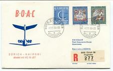 FFC 1966 Boac Special Direct Fligt VC 10 Jet Zurich Nairobi Kenya REGISTERED