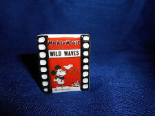 MICKEY MOUSE WILD WAVES 1930's POSTER Mini PLAQUE French Porcelain Feves DISNEY