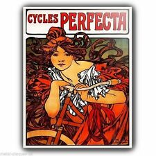 METAL SIGN PLAQUE Alfons Alphonse Mucha CYCLES VINTAGE SHABBY CHIC FRENCH poster