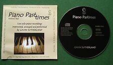 Gavin Sutherland Piano Pastimes Vol 2 Live Solo Piano Rec inc The Box + CD
