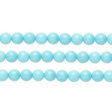 Round Malaysia Jade Beads (Dyed) Light Blue 4mm 16 Inch Strand