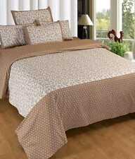Elegance Cotton Double Bed sheet with 2 pillow cover (Spice-1)