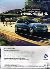 Publicité advertising 2012 VW Volkswagen Golf Carat  TDI