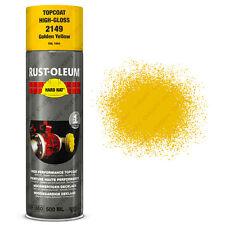 x6 Industriel Rust-Oleum Jaune Doré Peinture Aérosol Solide Chapeau 500ml RAL