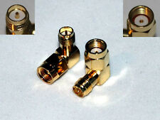 RP-SMA Male to RP-SMA Female RIGHT Angle RF Connector Adapter Fast Handling